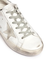 'Superstar' smudged leather sneakers