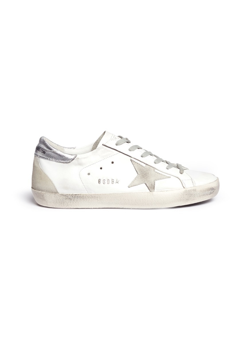 Superstar smudged leather sneakers by Golden Goose