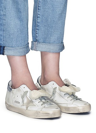 Figure View - Click To Enlarge - Golden Goose - 'Superstar' smudged leather sneakers