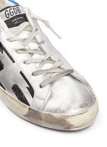 'Superstar' flag stripe metallic leather sneakers
