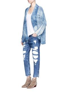 TortoiseRip and repair cropped jeans