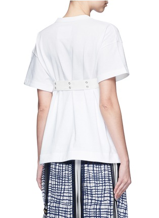 Back View - Click To Enlarge - Sacai - Belted cotton T-shirt
