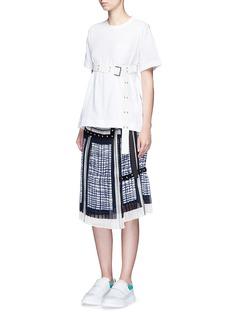 SacaiBelted cotton T-shirt