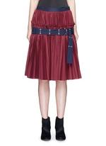 Belted plissé pleat skirt