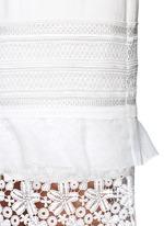 'Peony' geometric guipure lace ruffle bridal dress