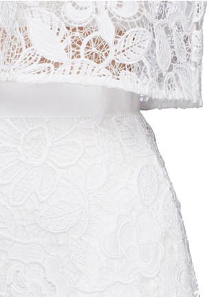 Detail View - Click To Enlarge - self-portrait - 'Marcela' cape overlay guipure lace bridal dress