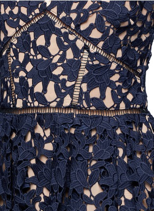 Detail View - Click To Enlarge - self-portrait - 'Azaelea' floral lace spaghetti strap dress