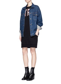 Etre Cecile  'Etre Terrestrial' cotton fleece sweatshirt dress