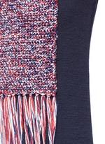 Crochet patch pocket sleeveless sweater