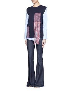 RhiéCrochet patch pocket sleeveless sweater