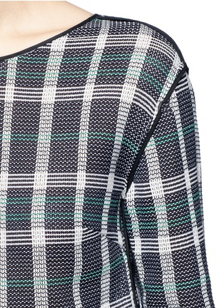 Detail View - Click To Enlarge - RHIÉ - Mesh plaid cotton top