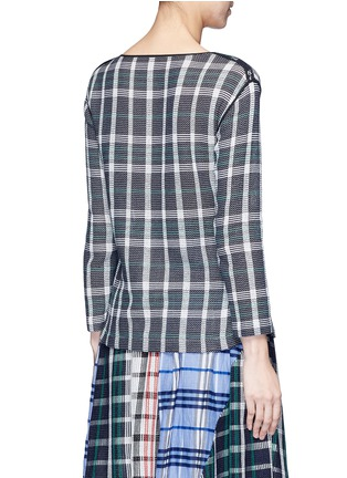 Back View - Click To Enlarge - RHIÉ - Mesh plaid cotton top