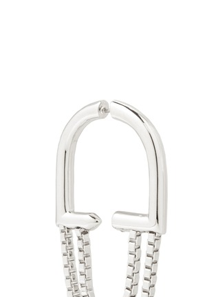 Eddie Borgo - 'Allure' padlock hoop box chain earrings