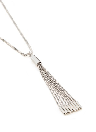 Detail View - Click To Enlarge - Eddie Borgo - 'Neo' tassel pendant chain necklace