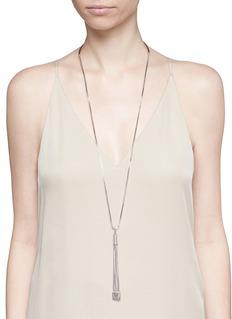 Eddie Borgo'Neo' tassel pendant chain necklace