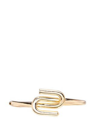 Main View - Click To Enlarge - Eddie Borgo - 'Allure' 12k gold plated bracelet