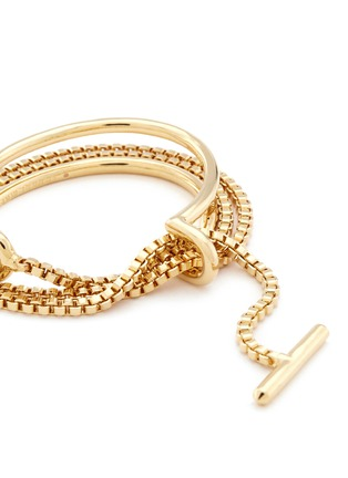 Detail View - Click To Enlarge - Eddie Borgo - 'Allure Wrap' box chain padlock cuff bracelet