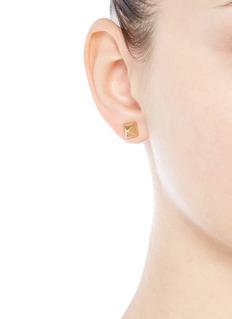 Eddie BorgoPyramid stud brass earrings