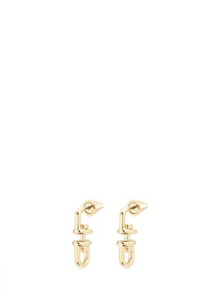 Main View - Click To Enlarge - Eddie Borgo - 'Fame Link Day Drop' 12k gold plated earrings