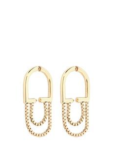 Eddie Borgo'Allure' padlock hoop box chain earrings