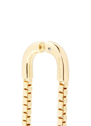 Detail View - Click To Enlarge - Eddie Borgo - 'Double Allure' padlock hoop box chain drop earrings