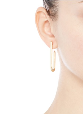 Eddie Borgo - 'Idle' 12k gold plated padlock drop earrings