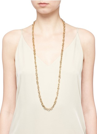 Figure View - Click To Enlarge - Eddie Borgo - 'Fame' 12k gold plated brass link necklace