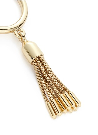 Detail View - Click To Enlarge - Eddie Borgo - 'Neo' tassel charm brass ring