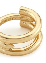 'Idle' 12k gold plated padlock cutout ring