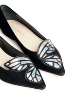 'Bibi' holographic butterfly wing suede flats