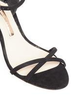 'Chiara' holographic butterfly appliqué suede sandals