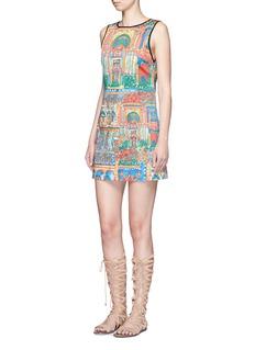 ALICE + OLIVIA'Tisha' Havana town print shift dress