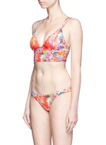 'Bianca' tropical leaf print Brazilian bikini bottoms