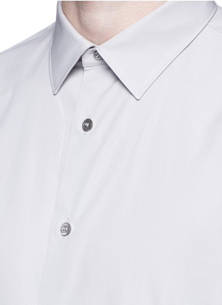 Detail View - Click To Enlarge - Alexander McQueen - Shoulder stripe cotton shirt