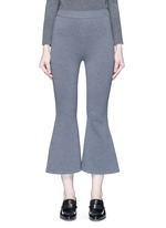 'Strong Lines' knit cropped flared pants