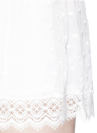 Detail View - Click To Enlarge - Zimmermann - 'Realm' eyelash lace silk georgette playsuit