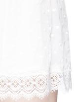 'Realm' eyelash lace silk georgette playsuit