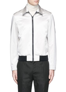 Alexander McQueen Swallow embroidery reversible satin blouson jacket
