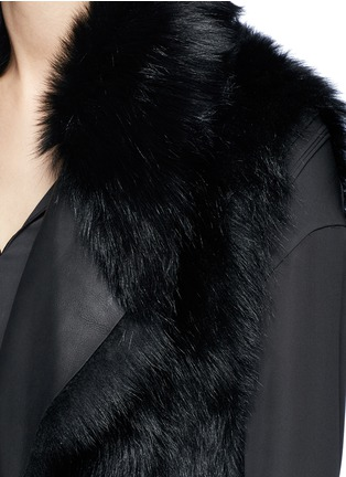 Detail View - Click To Enlarge - Vince - Reversible shearling vest