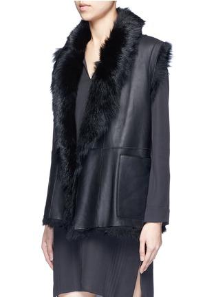 Vince-Reversible shearling vest
