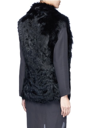 Back View - Click To Enlarge - Vince - Reversible shearling vest