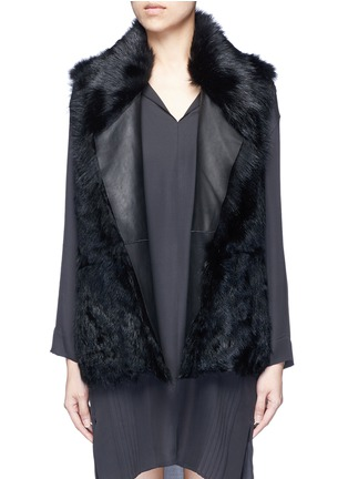 Main View - Click To Enlarge - Vince - Reversible shearling vest