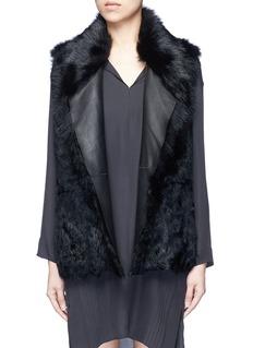 VinceReversible shearling vest