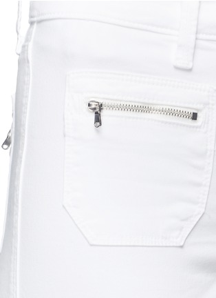Detail View - Click To Enlarge - J Brand - 'Talon' zip pocket cropped skinny pants