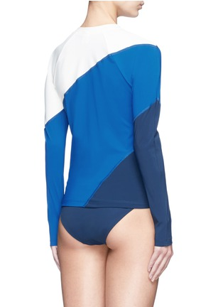 Back View - Click To Enlarge - Flagpole Swim - 'Elliot' colourblock long sleeve rashguard