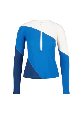 Main View - Click To Enlarge - Flagpole Swim - 'Elliot' colourblock long sleeve rashguard