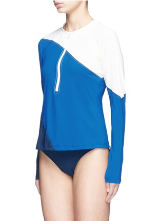 Figure View - Click To Enlarge - Flagpole Swim - 'Elliot' colourblock long sleeve rashguard