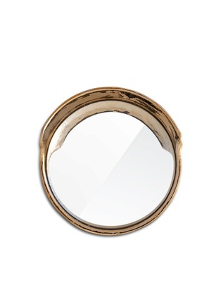 Main View - Click To Enlarge - Seletti - Focalize the Gold Edition convex mirror