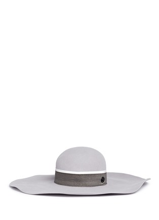Main View - Click To Enlarge - Maison Michel - 'Lucia' rabbit furfelt wide brim floppy hat