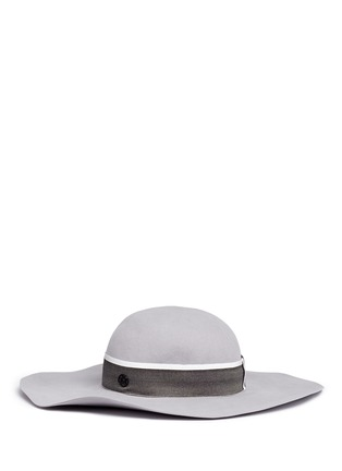 Figure View - Click To Enlarge - Maison Michel - 'Lucia' rabbit furfelt wide brim floppy hat
